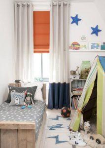 Kinderkamer vouwgordijn