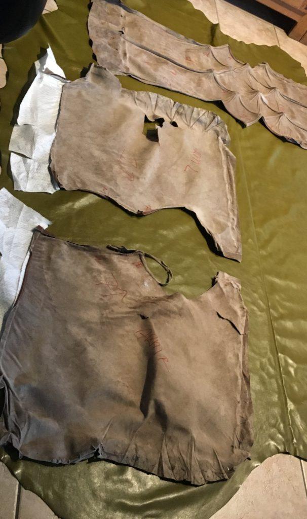 Oude bekleding dient als patroon