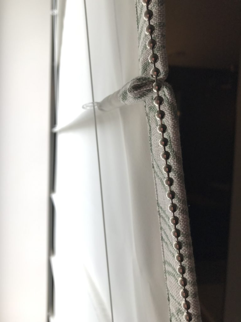 Close-up voering vouwgordijn