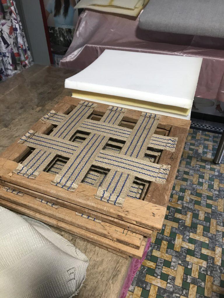 houten frame vernieuwde singelbanden en vulling