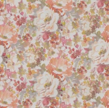 aquarelpatroon bloemenprint gordijn